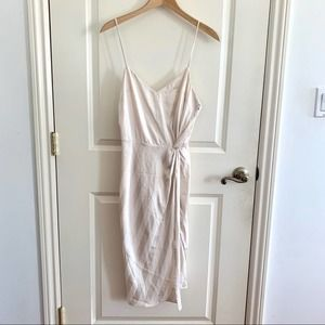 NEW 4SI3NNA Nordstrom Striped Slit Strappy Dress S